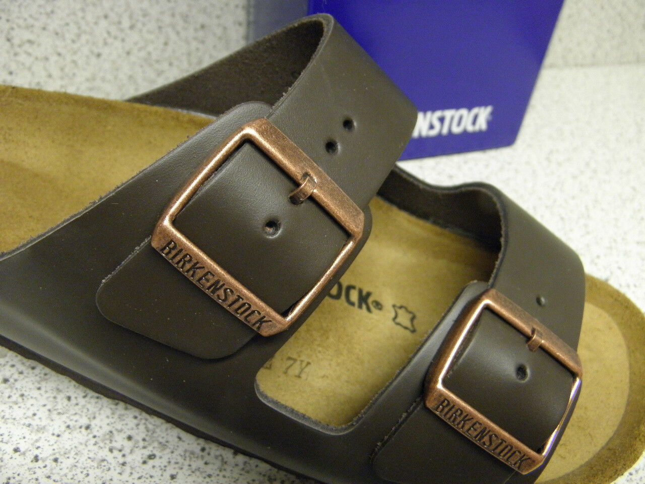 0d8180fdc1effb ... Birkenstock ® Top Preis Arizona ® Leder breit braun Nr. 051101 (Bi10)  30641d ...