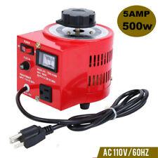 5amp Variac Transformer Variable 500va Ac Voltage Regulator 110v 0 130v