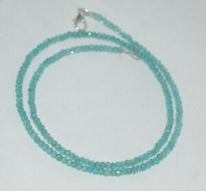 Sky-Apatite-Gemstone-3mm-Rondelle-Faceted-Beads-12-45-Inch-Strand-Necklace-YT656