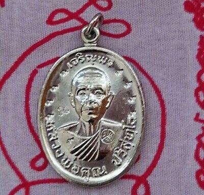 Pendant Coin Phra LP Sothorn Fortune lucrative Success Talisman Yant Thai Amulet