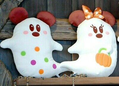 TOKYO Disney Sea Halloween Big Cushion Plush Doll Ghost Mickey /& Minnie SET2