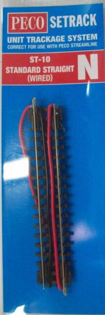 PECO ST-10 N SCALE STANDARD STRAIGHT (WIRED)