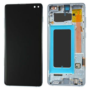 OEM LCD Display Touch Screen Ditigizer+Frame For Samsung Galaxy S10 Plus Blue US