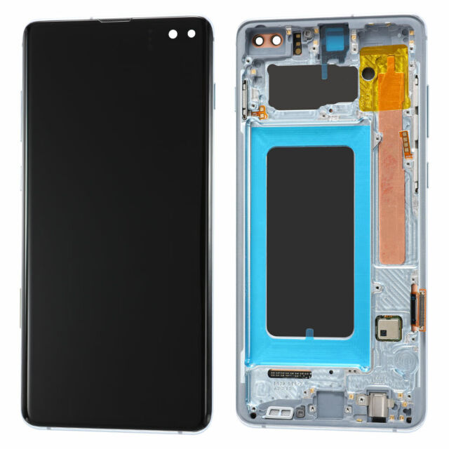 LCD Display Touch Screen + Frame For Samsung Galaxy S10 Plus OEM OLED Prism Blue