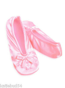 GIRLS-Isotoner-PINK-Pearl-Ballet-Style-Slippers-NEW-Soft-Suede-Sole