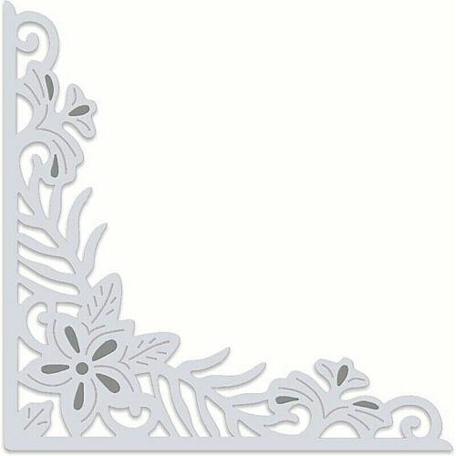 Floral Craft /& Card Making Tropical Flower Corner Metal Die Sweet Dixie