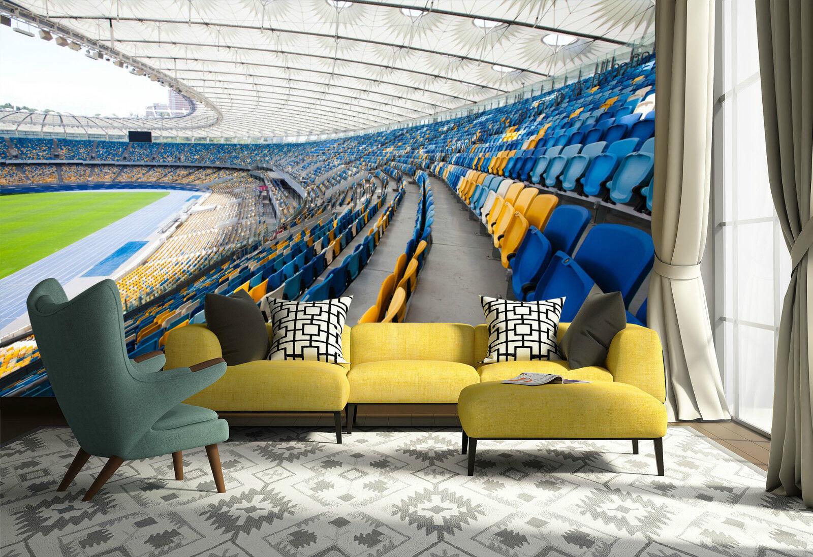 3D Stadium Seats 112 Wall Paper Wall Print Decal Wall AJ WALLPAPER CA