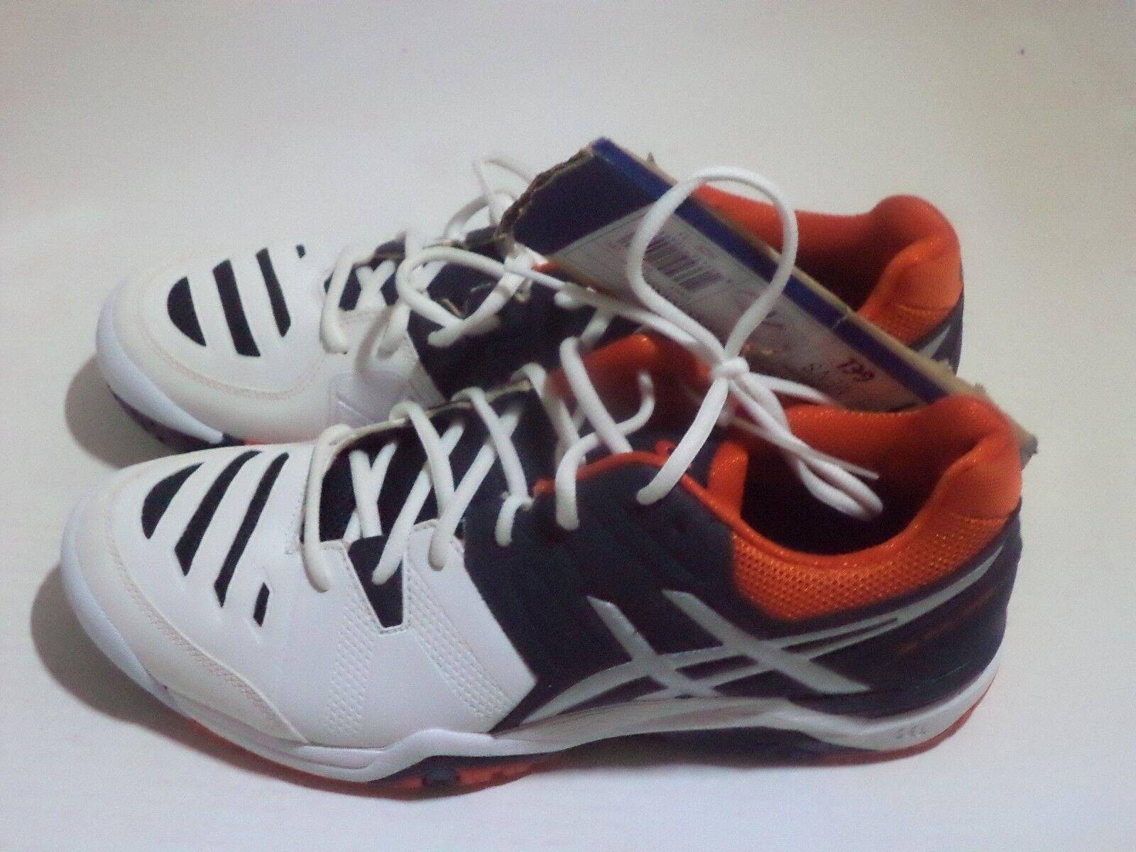 ASICS Men's Gel-Challenger 10 Tennis zapatos Talla 9 - 11 Colors blanco azul & Crimso