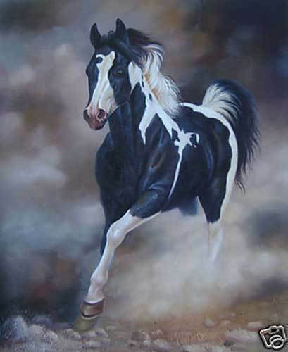 CHOP829 100/% hand painted modern strong runing horse oil painting art on canvas