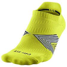 New Nike Running Cushion No-Show Dri-Fit Socks Cyber L Large SX4750-360 Tennis