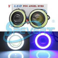 "2pcs 10W 3"" 76mm Projector LED LAMPADA ANGEL EYES ANELLO HALO RINGS Bianco Blu"