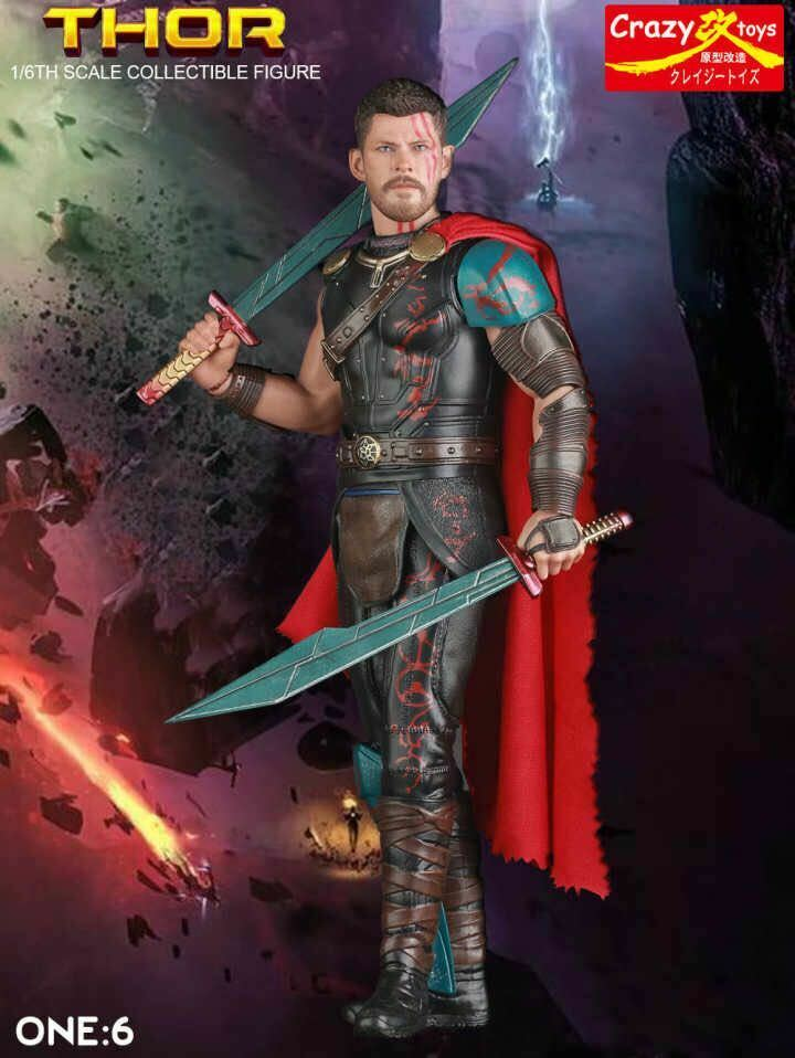 CRAZY TOYS 1 6 SCALE THOR RAGNAROK COLLECTIBLE FIGURE MODEL STATUE 12 INCH
