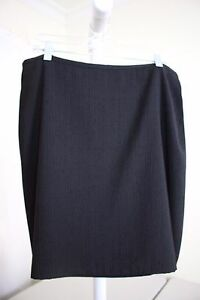 Anne-Klein-Polyester-amp-Rayon-Black-W-White-Polka-Dots-Above-Knee-A-Line-Skirt-16