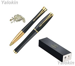 Muted Black w/ Gold Trim Finish Luxury Gift Pen Set Urban Ballpoint & Rollerball
