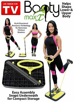 Booty Max Resistance Exerciser Band Workout Lower Upper Body Compact ORIGINAL