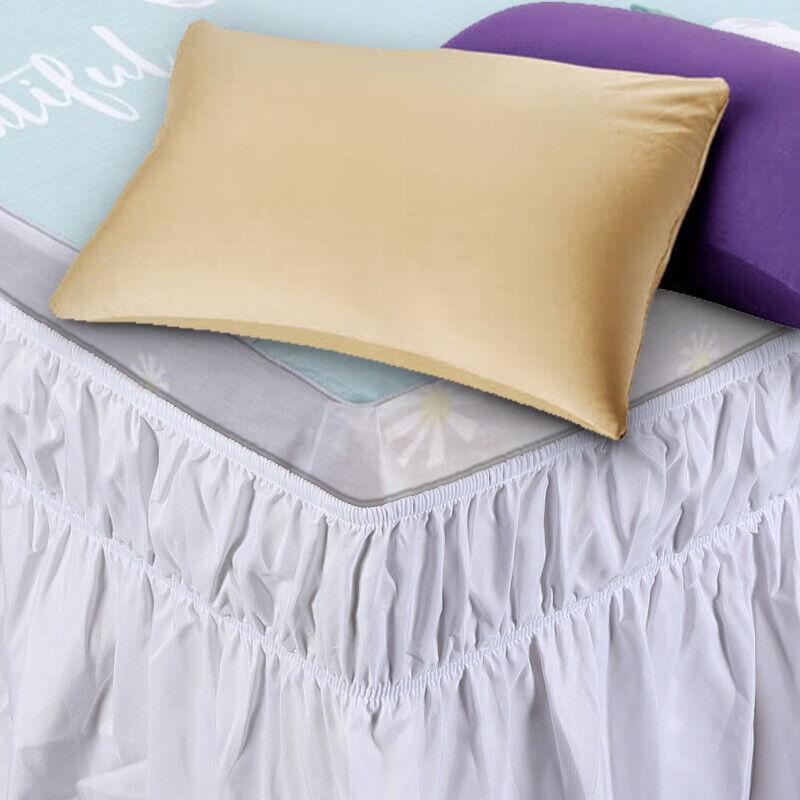 NEW IN PACKAGE NATE BERKUS Oyster Bay King Bedskirt Bed Skirt White  FREE SHIP !