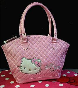 Hello-kitty-Handbag-Shoulder-Tote-Bag-Purse-High-Quality-2colors-FREE-SHIPPING