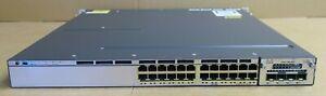 Cisco-Catalyst-WS-C3750X-24T-S-Commutateur-Gigabit-Ethernet-24-ports-C3KX-Presque-comme-neuf-10G-mod