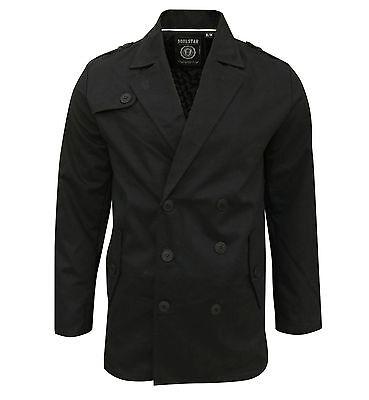 Soul Star Men's Columbia Trench Mac Jacket Coat Black