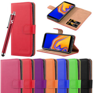 the latest 340b4 9b849 Details about For Samsung Galaxy J6 Plus Phone Case J6+ Leather Flip Wallet  Protective Cover