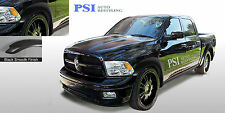 BLACK PAINTABLE Extension Fender Flares 2009 - 2016 Dodge RAM 1500 FULL SET