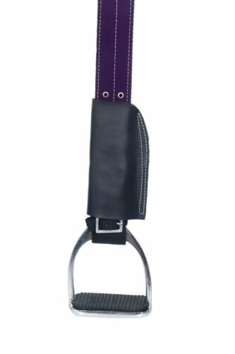 Synthetic Suede Australian Stock Horse Riding Saddle Tack With Matching Girth