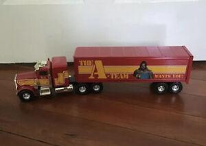 """VINTAGE 1983 ERTL 1/25 SCALA pressofusione """"L' a-Team"""" Peterbilt Trattore Rimorchio Camion"""