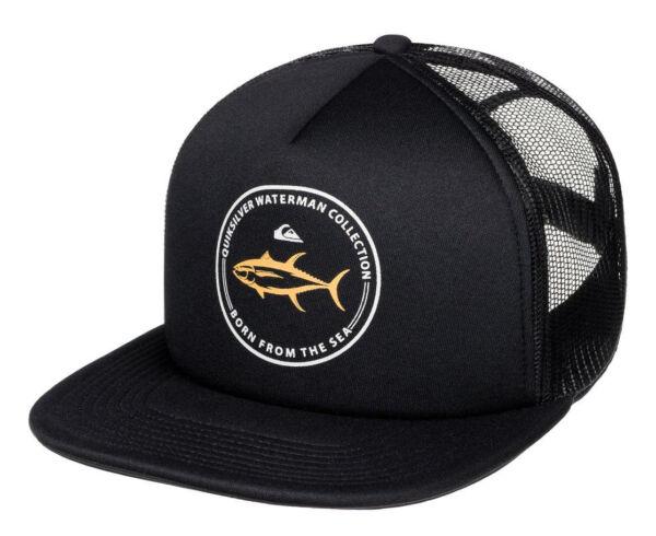 753cd1edc379b Quiksilver AQMHA03063 Waterman Abyss Trucker Hat - Black for sale online
