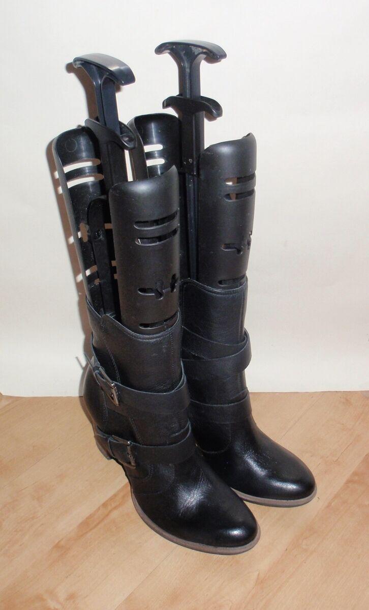 NEW Clarks womens KIMONO DRAGON black leather ankle boots size UK 7