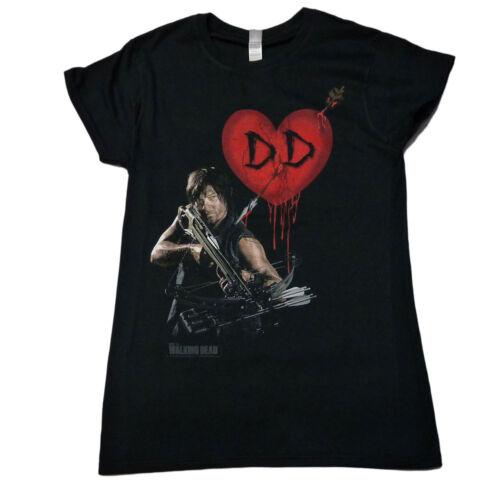 Officiel walking dead Daryl Dixon love coeur femme t walkers zombie s-xl 15E