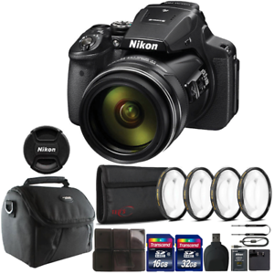 Nikon COOLPIX P900 Digital Camera with 83x Optical Zoom & Accessory Kit 718174968001