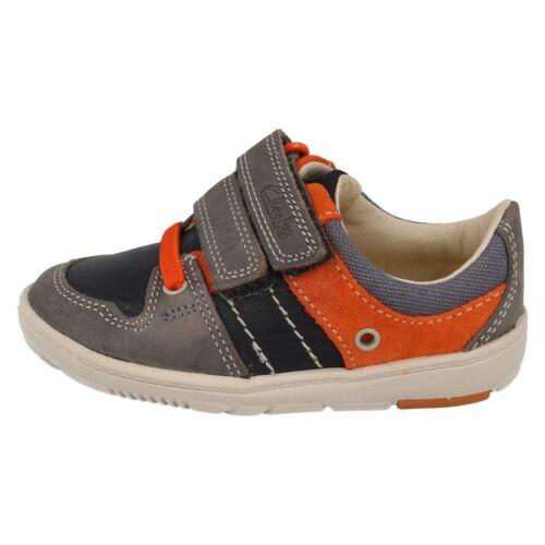 Myle Maxi Clarks Denim zapatos Blue Boys primeros Leather gqY0C