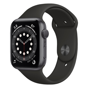 Apple Watch Series 6 (GPS) 44mm with Black Sport Band - Space Gray M00H3LL/A