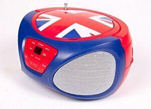 Cd Player Boombox Am Fm Radio Portable Music System Stereo Speaker Uk Flag New 21331442468 Ebay