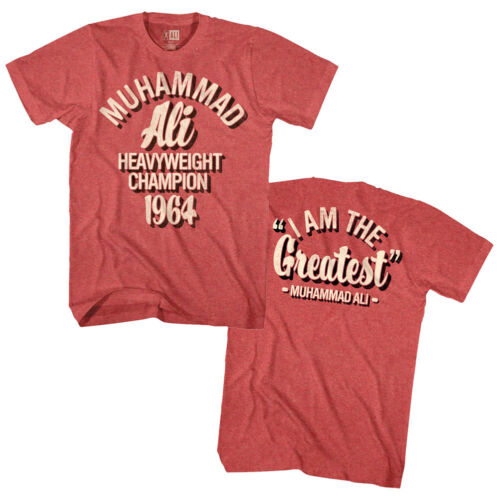 Muhammad Ali Boxing Heavyweight Champion 1964 Mens T Shirt I Am The Greatest Top