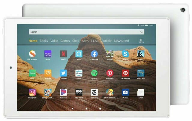 Amazon Fire Hd 10 9th Generation 32gb Wi Fi 10 1in White With Special Offers For Sale Online Ebay