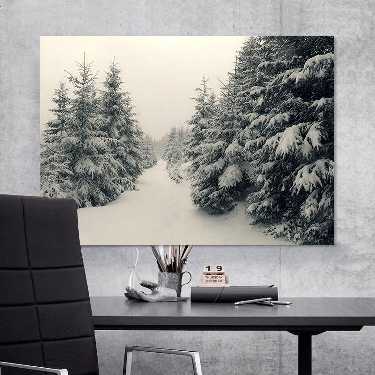 3D Schnee Kiefernwald 75 Fototapeten Wandbild BildTapete Familie AJSTORE DE