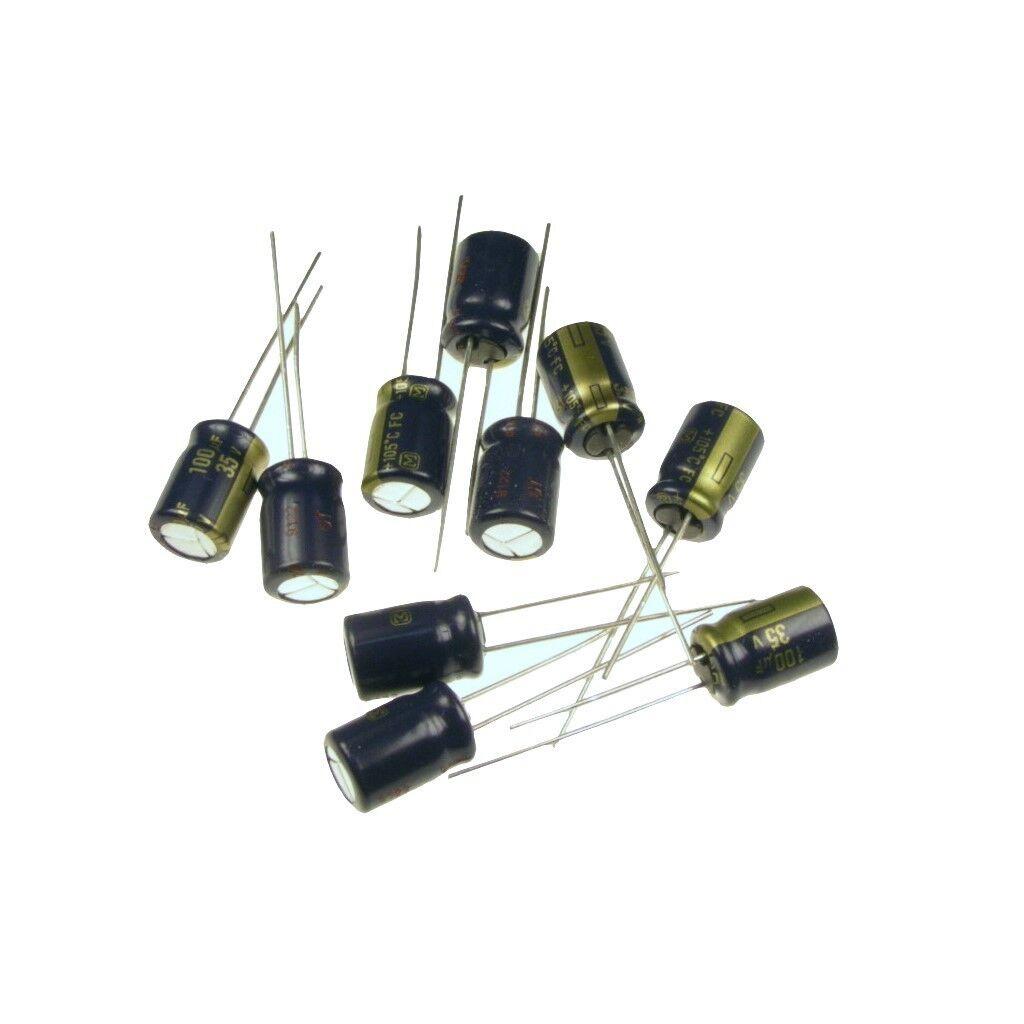 radial 100uf 100µf Elko //100v//85 ° c ø13x21mm 5 piece