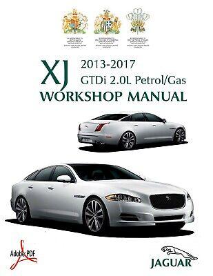 2013 2017 Jaguar Xj Gtdi 2 0l I4 Ti Workshop Service Manual Wiring Diagrams Ebay