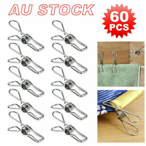 Details about  /Upto 360x Stainless Steel Clothes Pegs Hanging Clip Pins Laundry Windproof Clamp