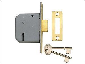 YALE Locks PM322 3 LEVA mortasa Impasse OTTONE LUCIDO 65mm 2.5in YALPM 322PB25  </span>