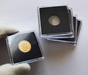 Capsules-plastique-Quadrum-pour-pieces-de-10-francs-or-diametre-19-millimetres