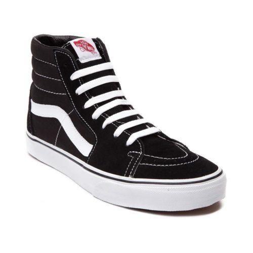 Vans SK8 Hi Unisex Black Black White Men's Skate Unisex Hi Shoes VN000D5IB8C c4415a