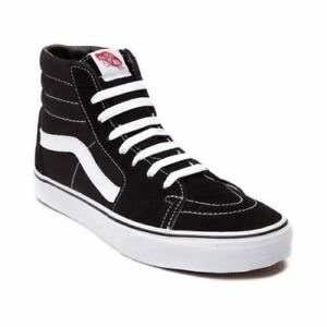 249342929f7bea Vans SK8 Hi Black Black White Men s Skate Unisex Shoes VN000D5IB8C ...