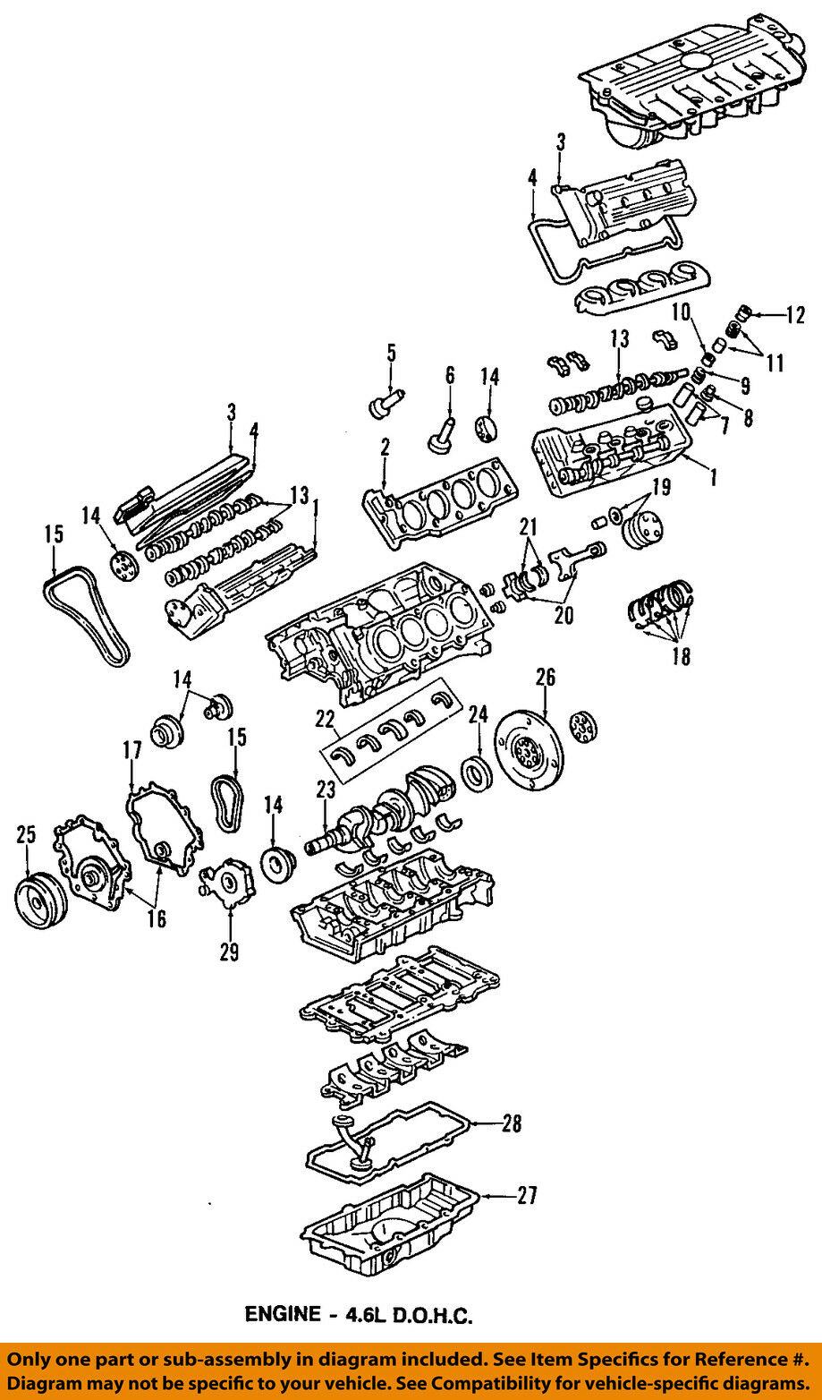 Genuine Gm 12603135 46l V8 Aluminum Engine Oil Pan Ebay Ford 4 6l Diagram Norton Secured Powered By Verisign