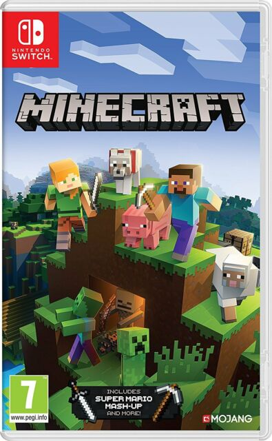 MINECRAFT EDIZIONE NINTENDO SWITCH VIDEOGIOCO ITALIANO + DLC SUPER MARIO MASH-UP