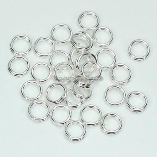 Wholesale!1000pcs 4,5,6,7,8,10mm Metal Double Split Jump Rings Silver//Gold Plt