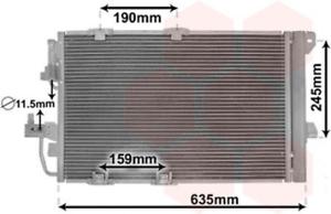 climatisation pour climatisation VAN WEZEL 37005326 Condenseur