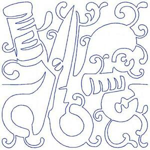Continuous Line Sewing Blocks 12 Machine Embroidery Designs Quilt 8