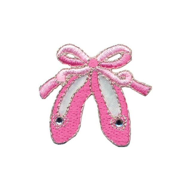 Wrights Simplicity Iron-On Applique Pink Ballet Dance Slippers Shoes